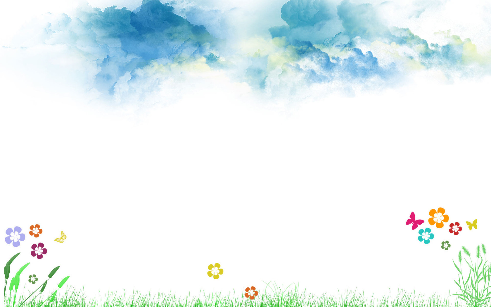 Download Flowers and butterflies wallpaper