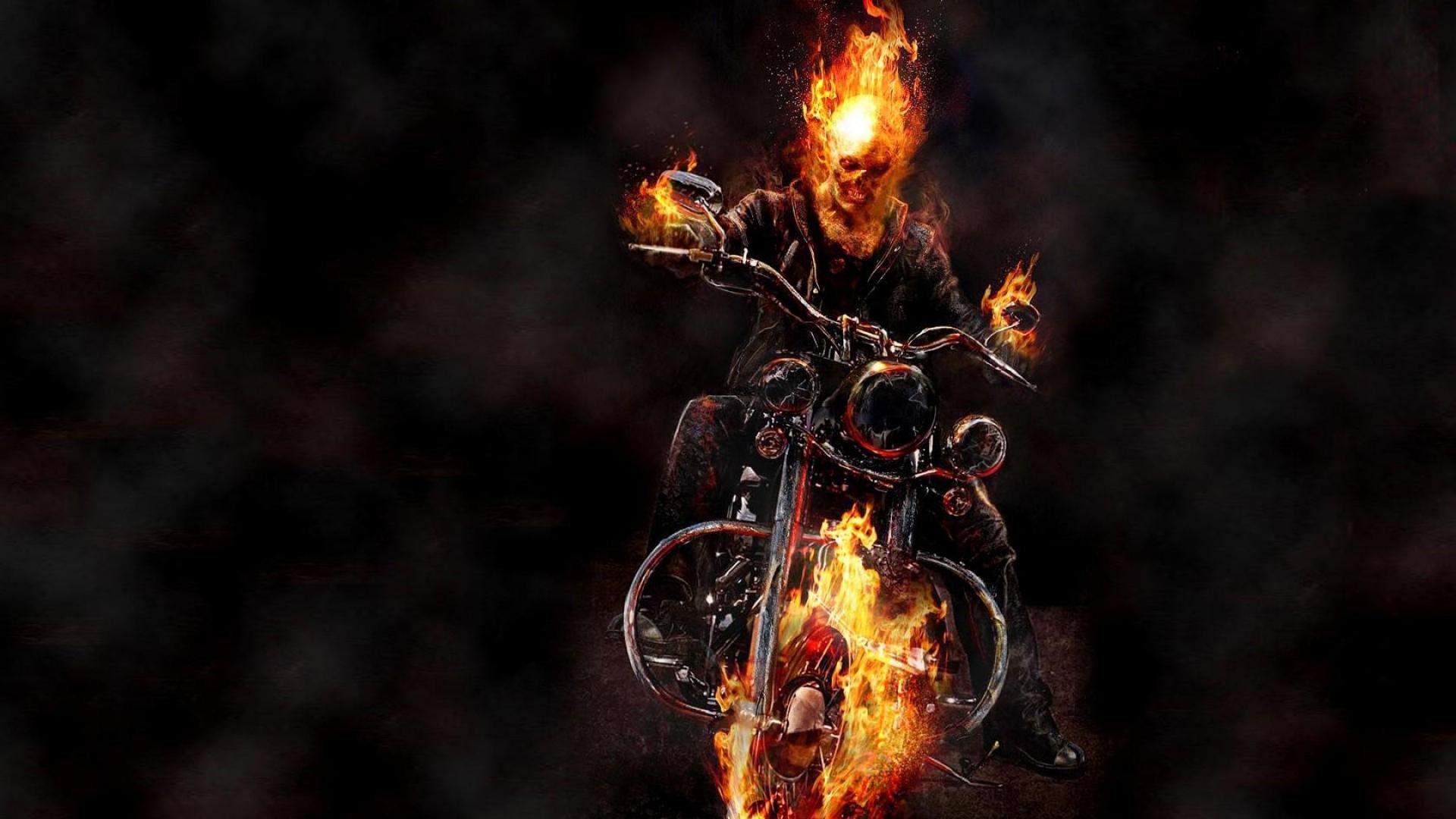 Motorcycle Ghost Rider Image HD Wallpaper WallpaperLepi 1920x1080