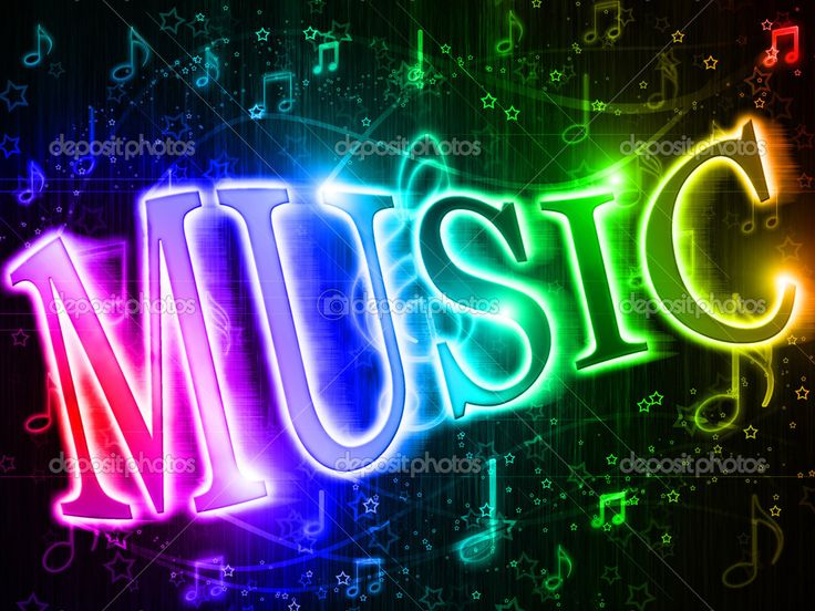 Cool Music Note Wallpapers: Neon Music Notes Wallpaper