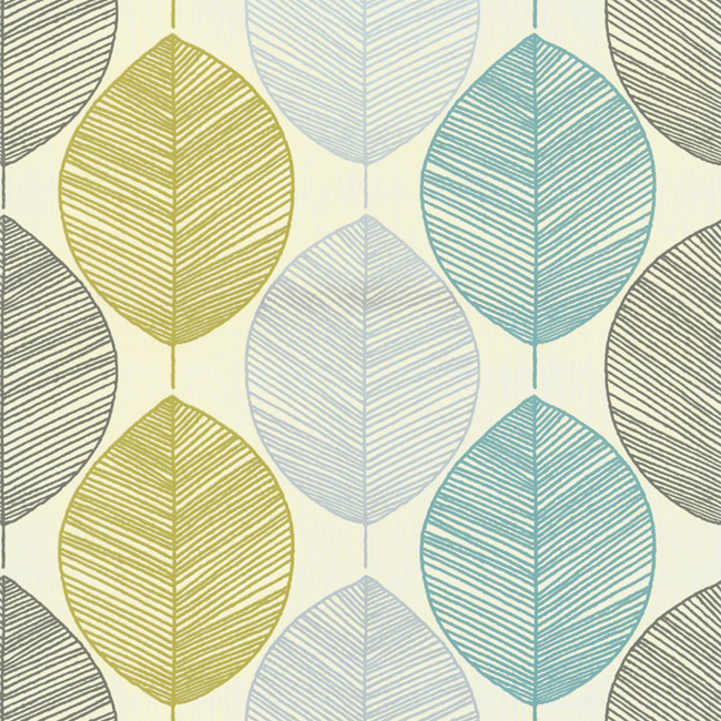 Details about Retro Leaf Teal and Green Wallpaper   Arthouse 650x650