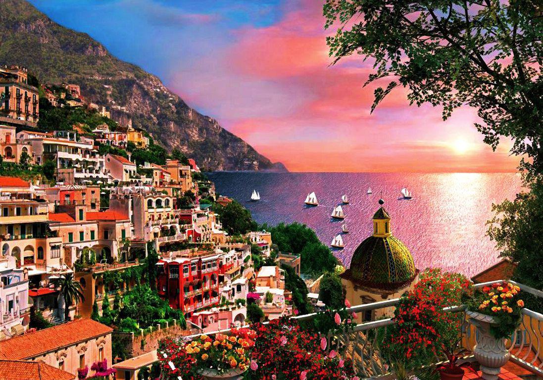 42 positano wallpaper on wallpapersafari - Italy screensaver ...
