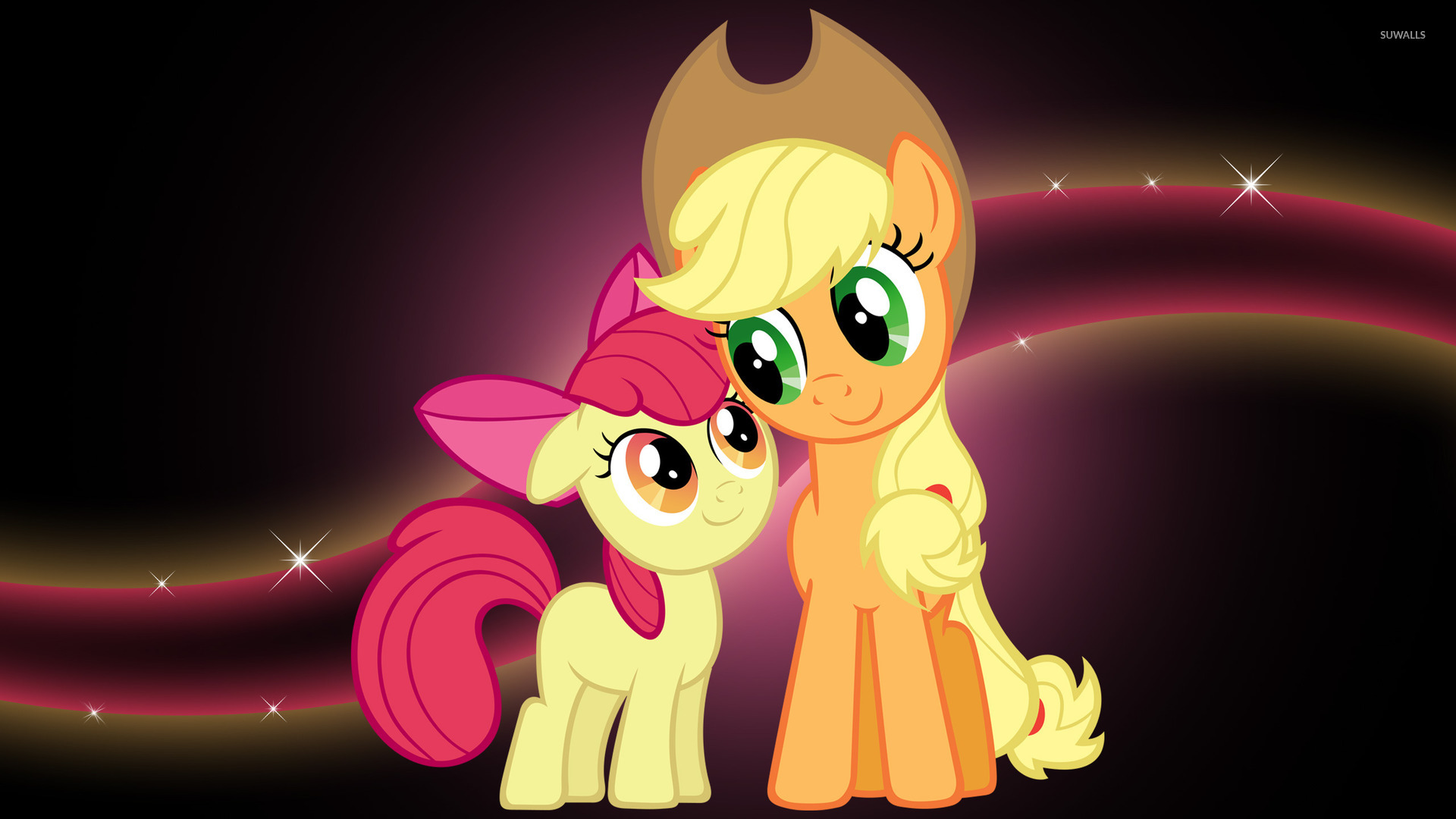 Applejack and Applebloom wallpaper   Cartoon wallpapers   10909 1920x1080