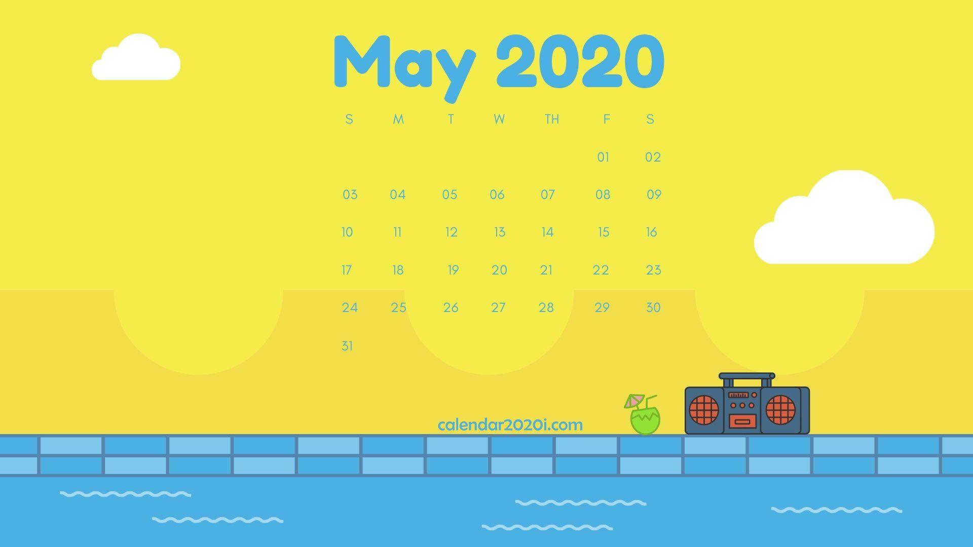 May 2020 Calendar Desktop Wallpaper Calendar wallpaper July 1920x1080