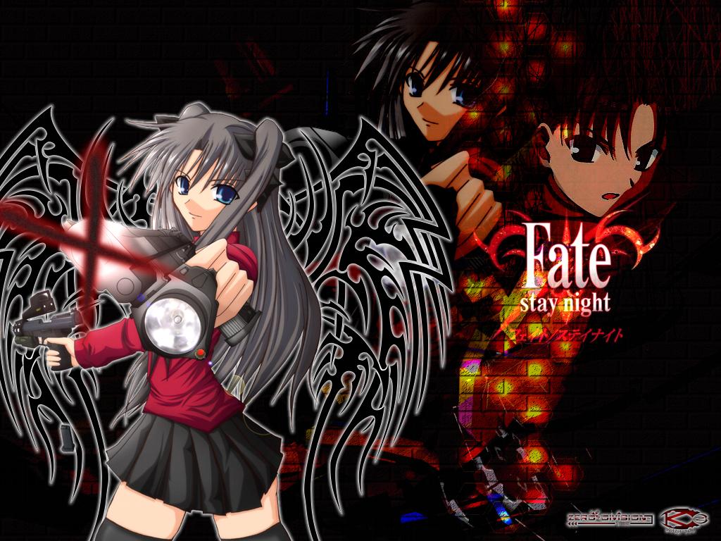 Shirou Emiya And Rin Tohsaka Fate Stay Night Wallpaper 1024x768