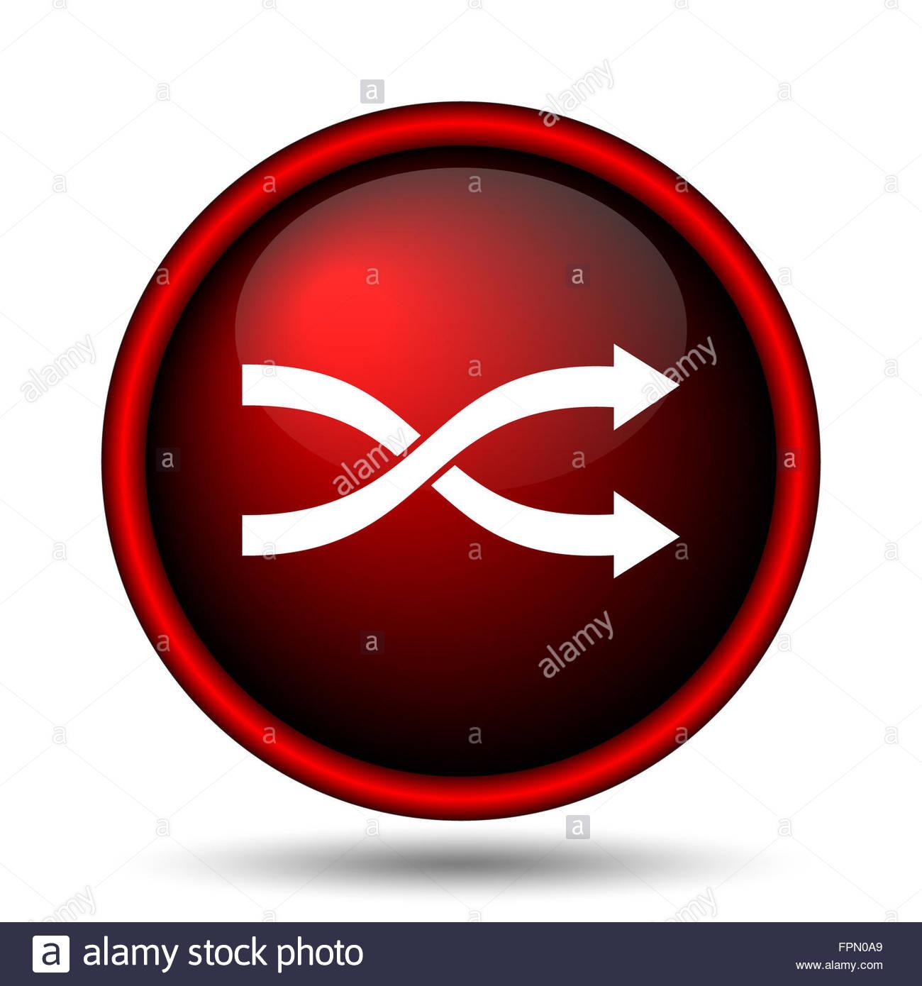 Shuffle icon Internet button on white background Stock Photo 1300x1390