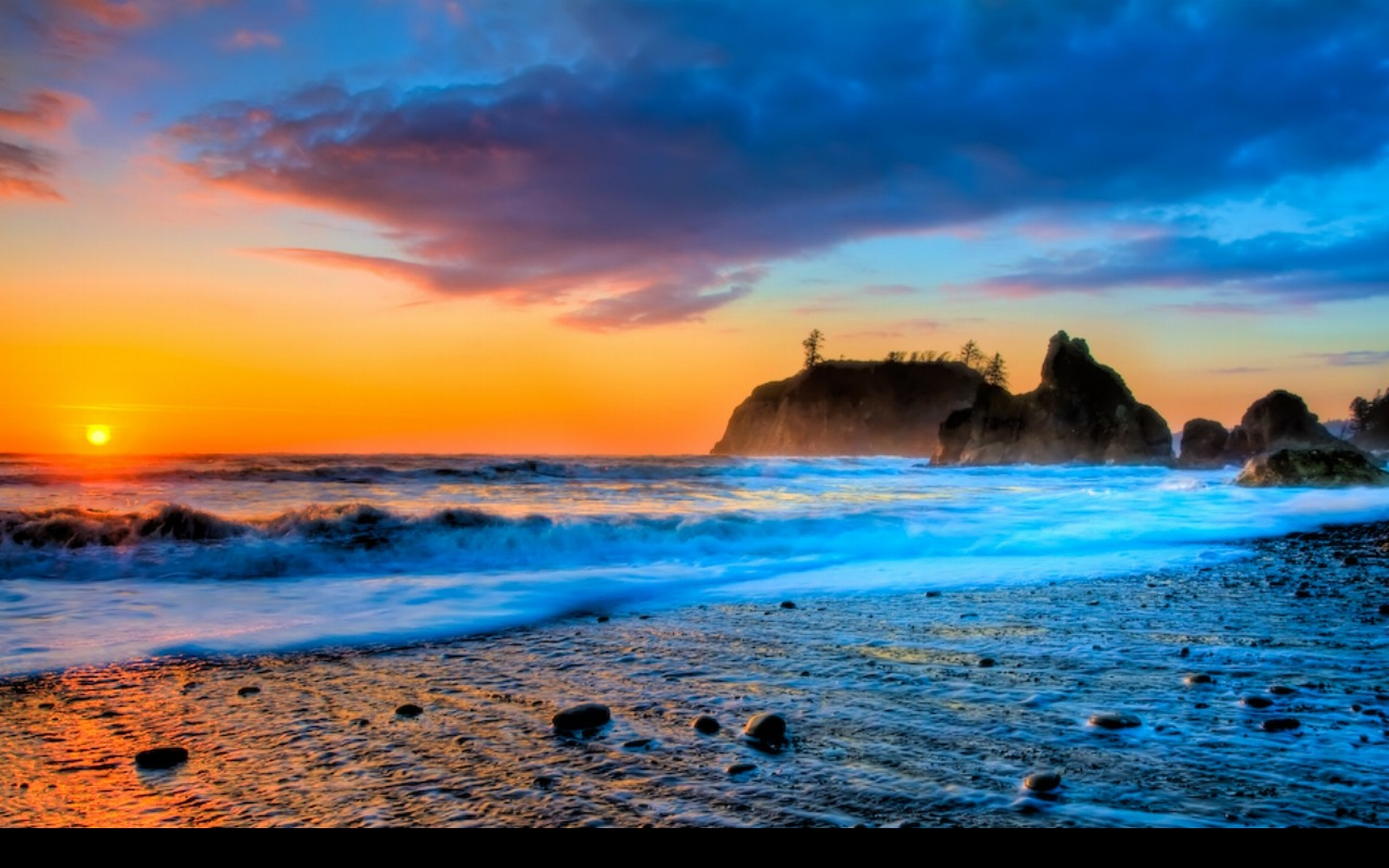 Ruby beach sunset hd wallpaper beach background wallpaper 1920x1200