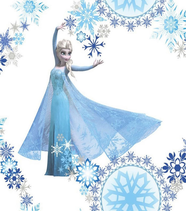 Disney Frozen Disney Frozen Girls Bedroom Wallpaper   Snow Queen 618x700