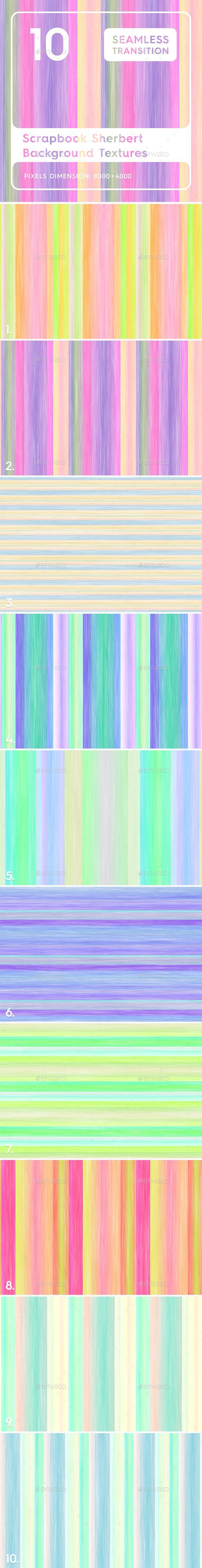 10 Scrapbook Sherbert Textures Professionally designed background 590x4581