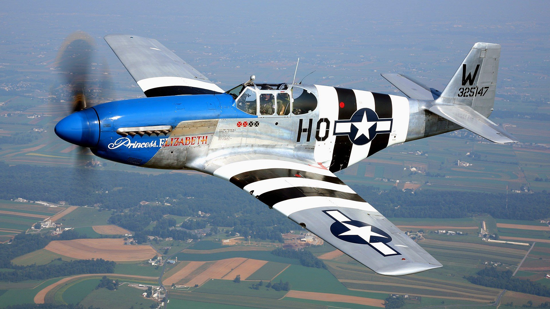 aircraft Warbird P 51 Mustang wallpaper background 1920x1080