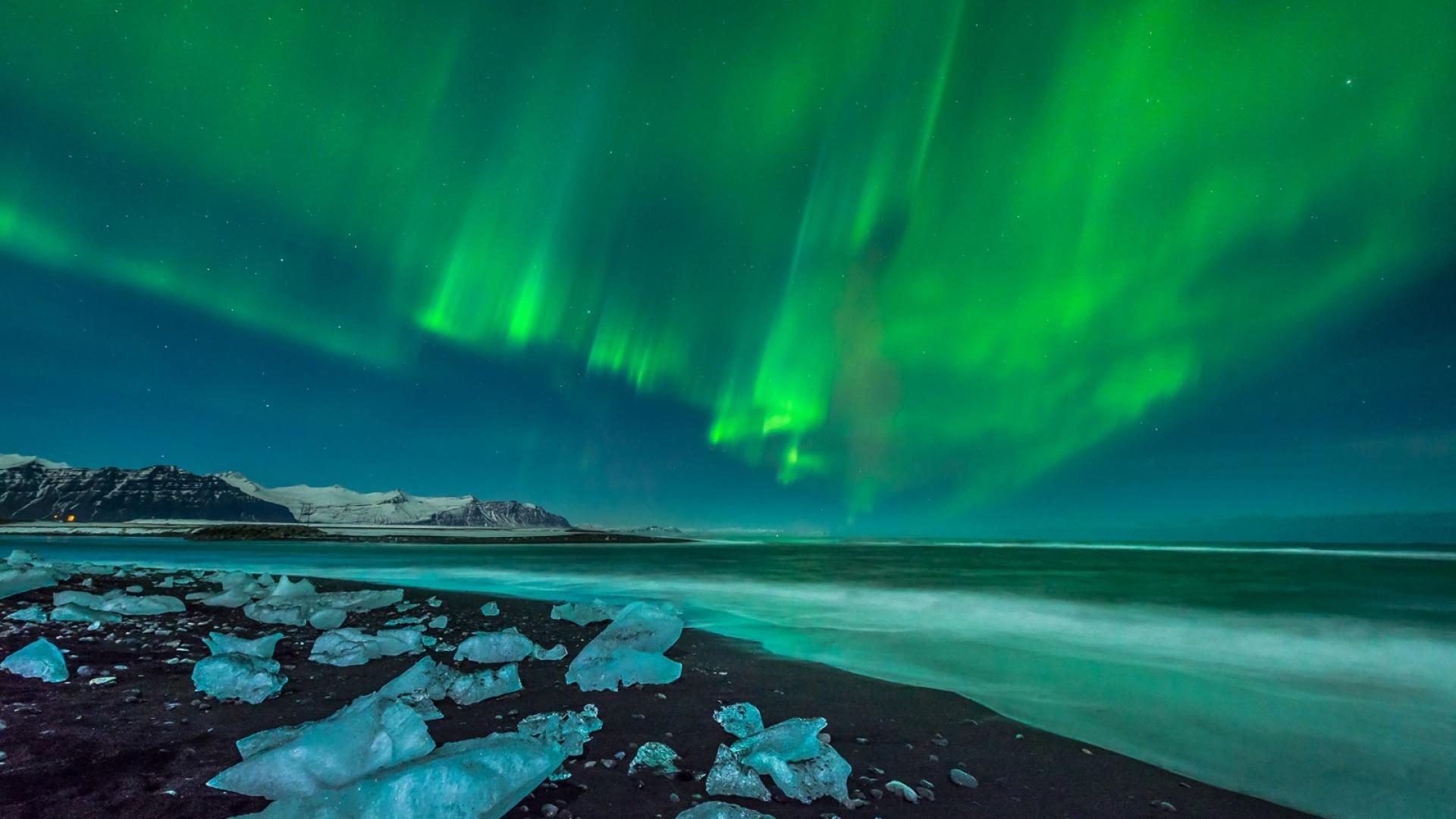 Animated aurora borealis wallpaper wallpapersafari for Sfondi desktop aurora boreale