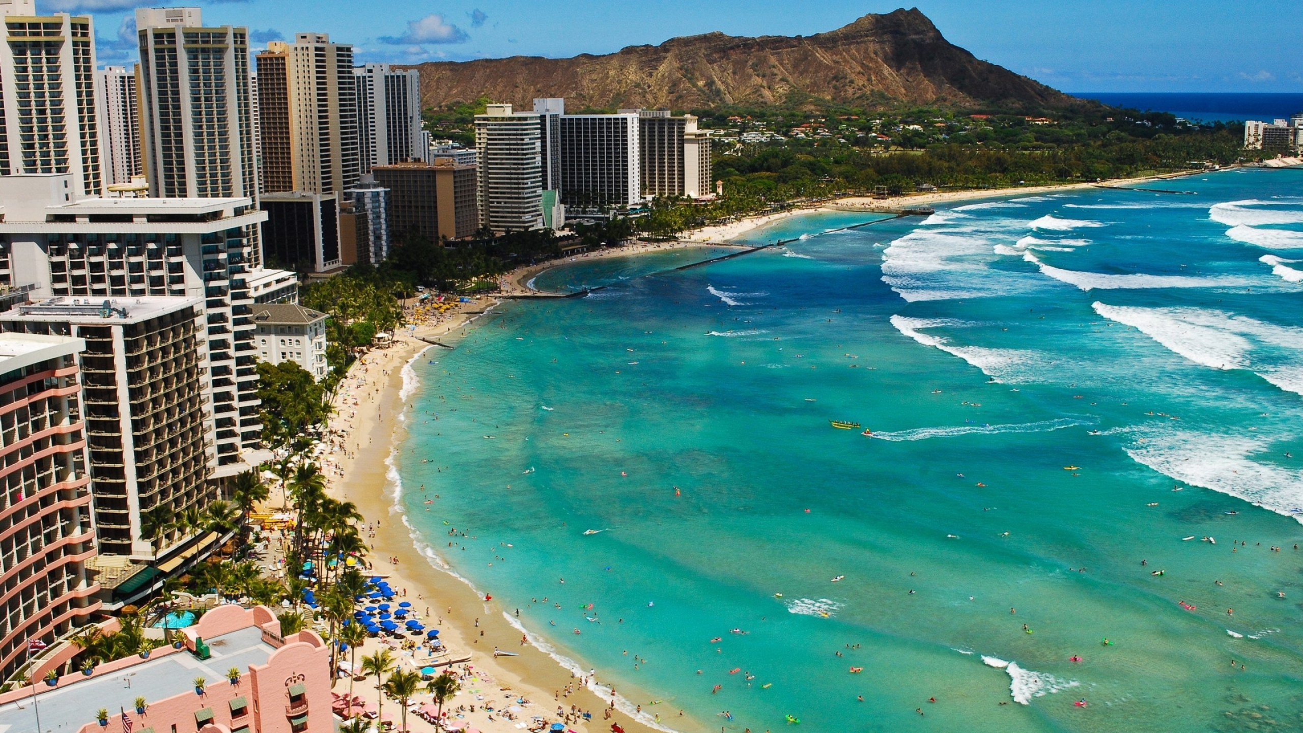 Waikiki Beach Mac Wallpaper Download Mac Wallpapers Download 2560x1440