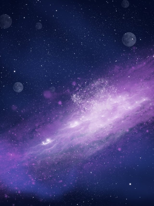Full Handpainted Wind Starry Space Background Night Sky Universe 640x856
