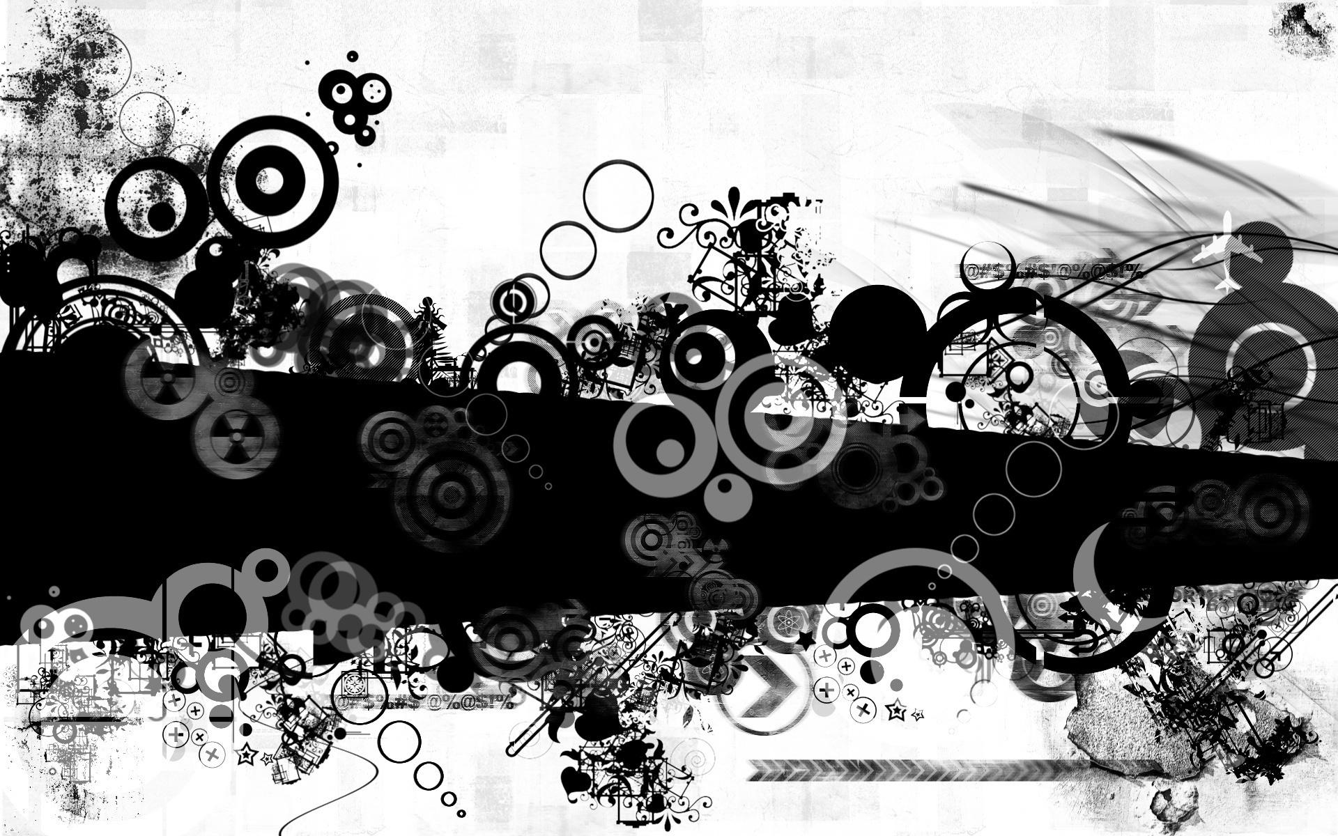 Black and white shapes wallpaper   Digital Art wallpapers   53040 1920x1200
