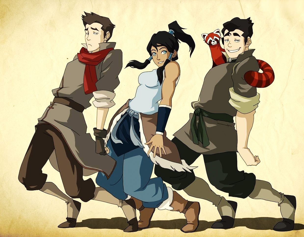 Korra And Mako And Bolin 5 Wallpaper Background Hd cartoons i 1239x964