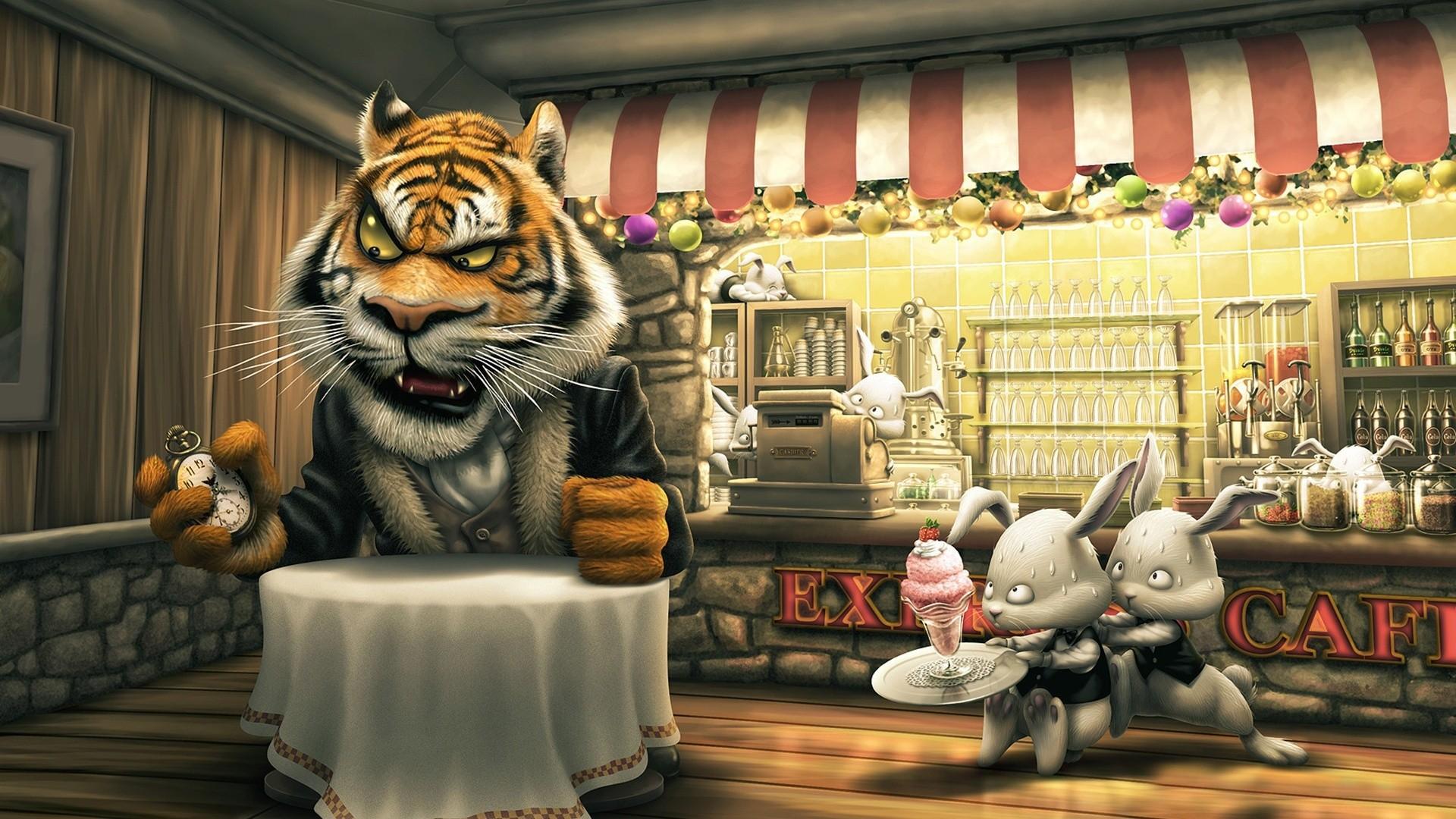 Cartoons Food Wallpaper 1920x1080 Cartoons Food Restaurant 3D Food 1920x1080