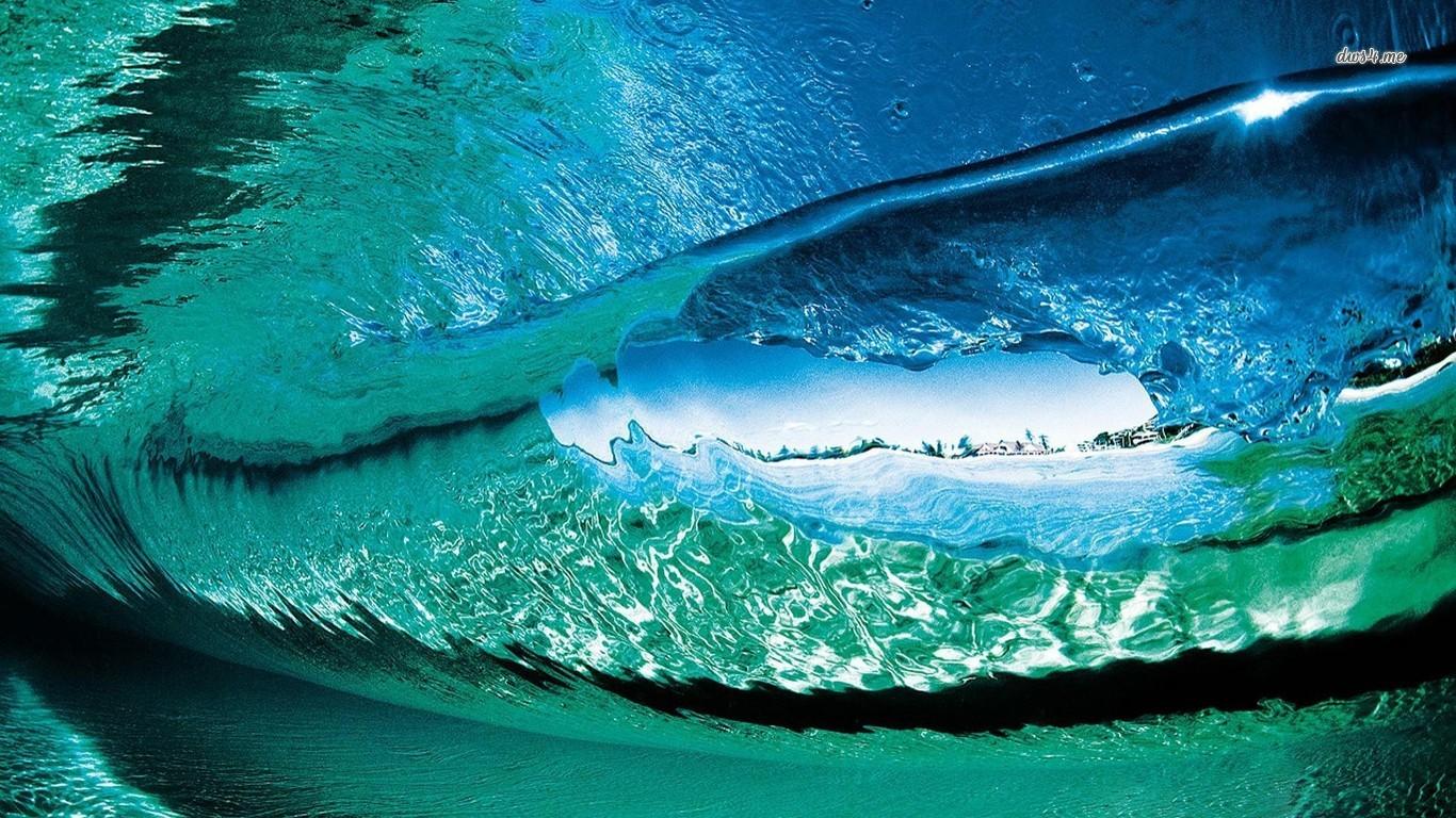 44 Ocean Wave Desktop Wallpaper On Wallpapersafari