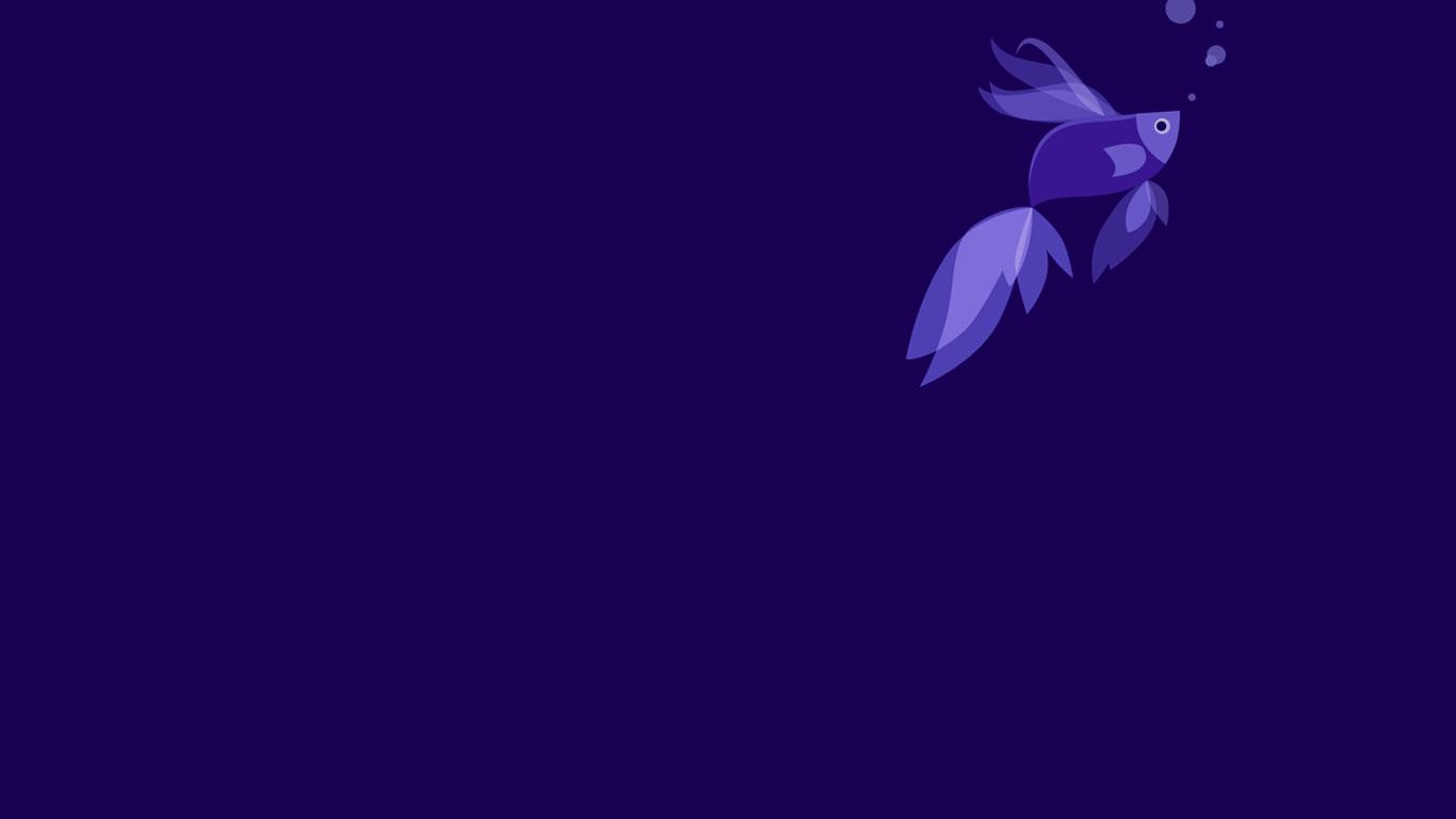 Fish Windows 81 Windows Blue by Gabrielx86 1366x768