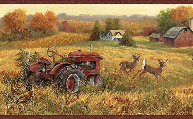Farm Scene Wallpaper Border   Wallpaper Border Wallpaper inccom 640x393