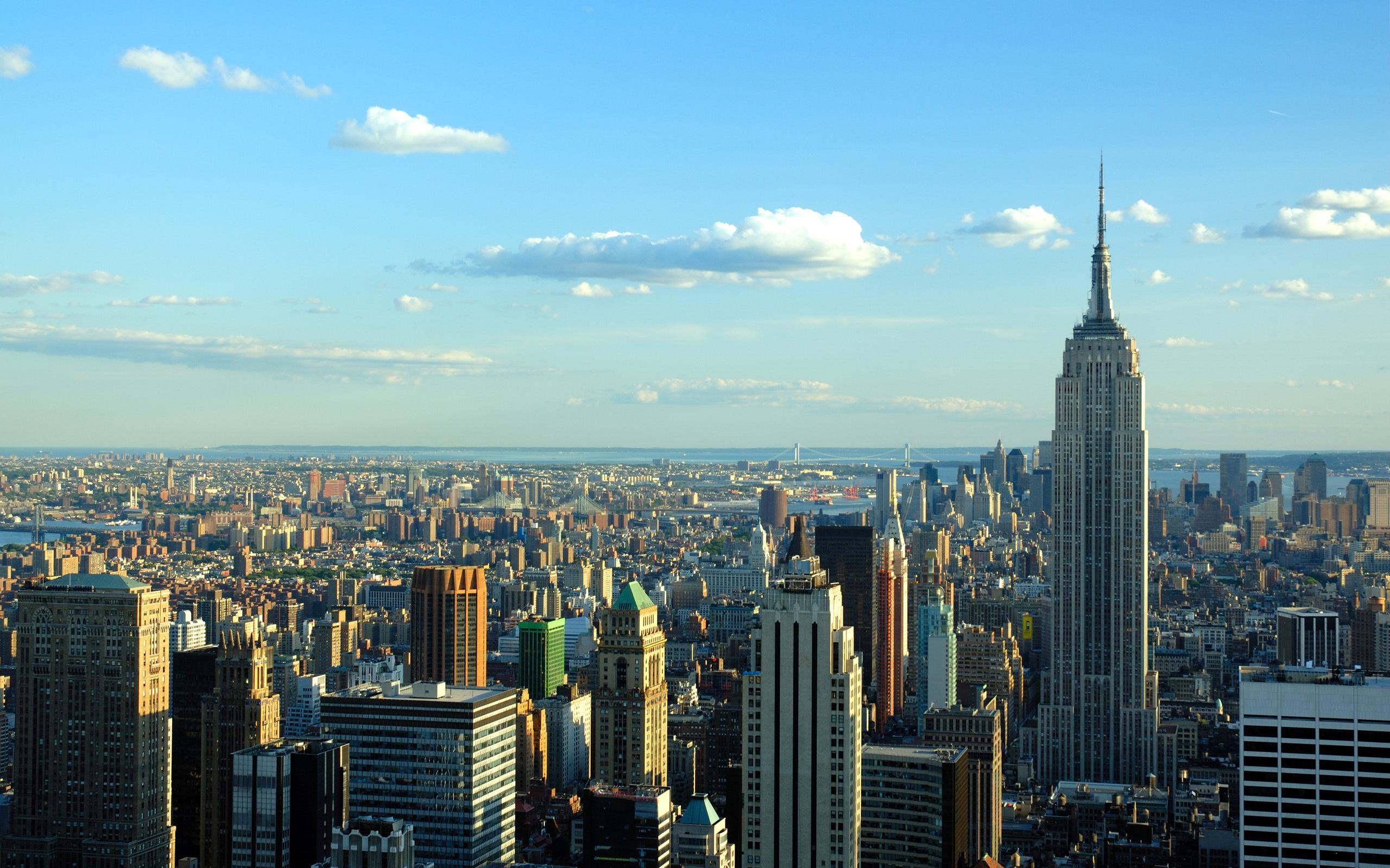 New york skyline wallpaper wallpapersafari for Immagini desktop new york