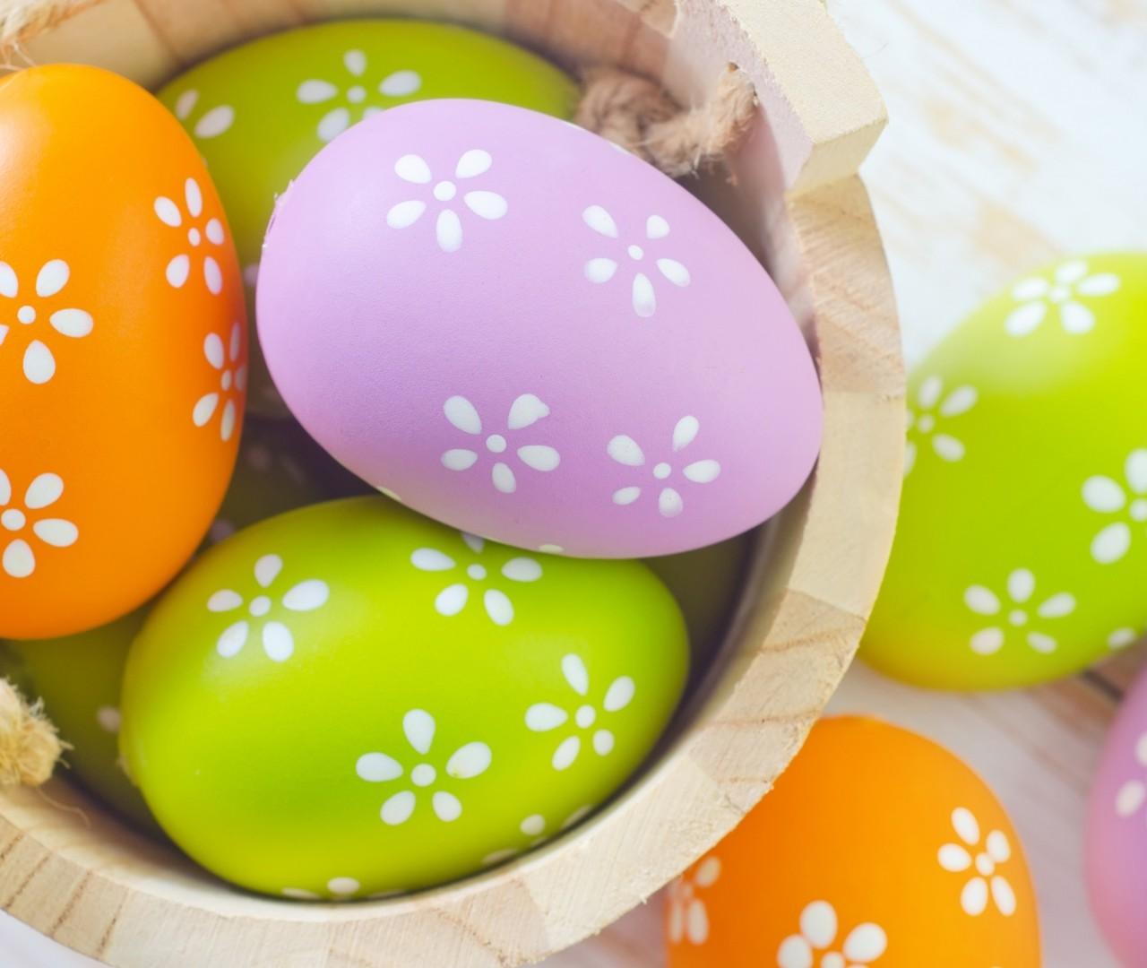 easter eggs HD Wallpaper 9504 1280x1080
