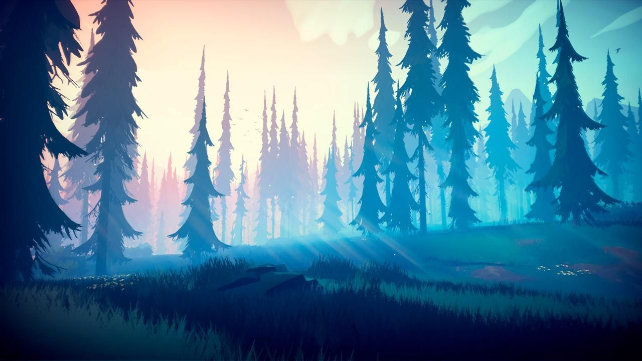 Among Trees   Enchanting Forest by Dadaws Fantasy 1280x720