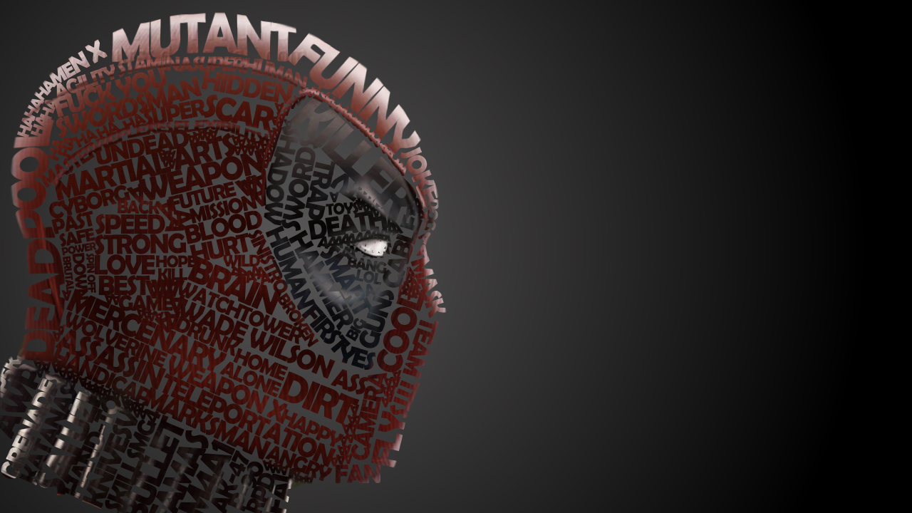 Eight Superheroes and Villains Created with Gorgeous Typography 1280x720