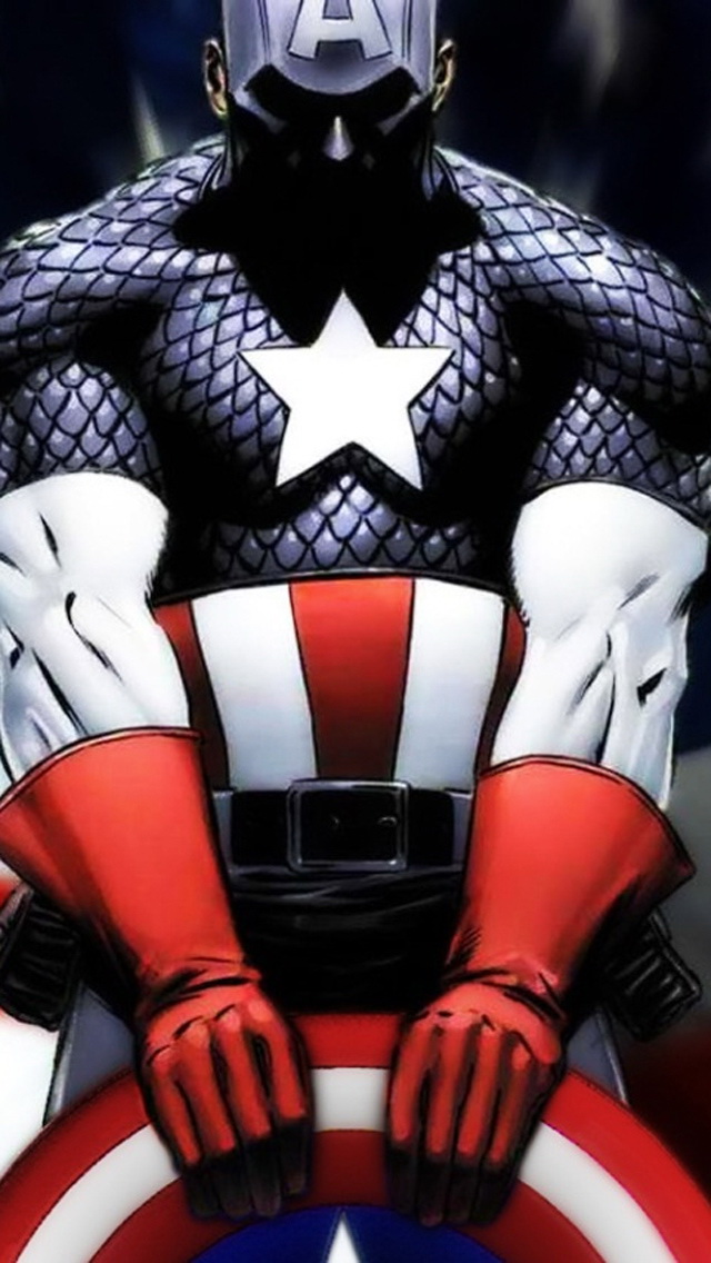 Captain America Art iPhone 6 6 Plus and iPhone 54 Wallpapers 640x1136