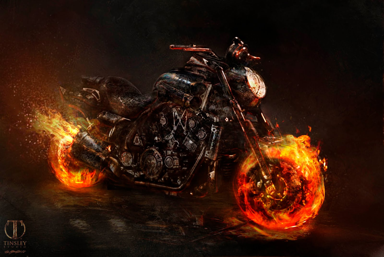 Jerad S Marantz Ghost Rider Spirit of Vengeance designs 1600x1072