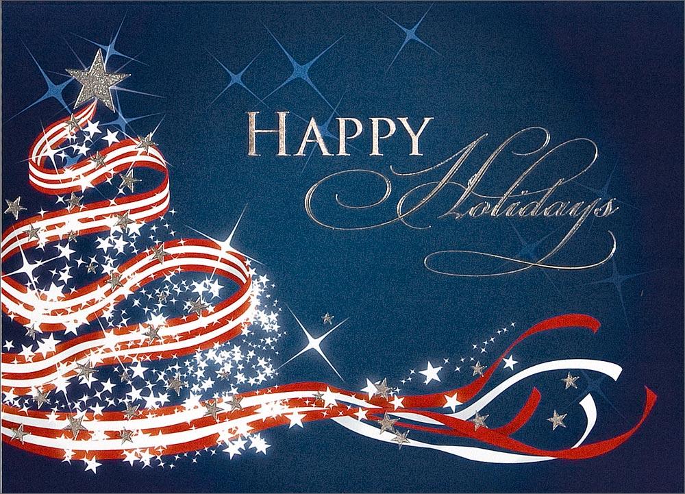 Home Christmas Cards Themes Patriotic Patriotic Tree 1000x721