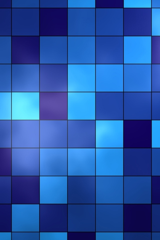 Blue Squares Simply beautiful iPhone wallpapers 640x960