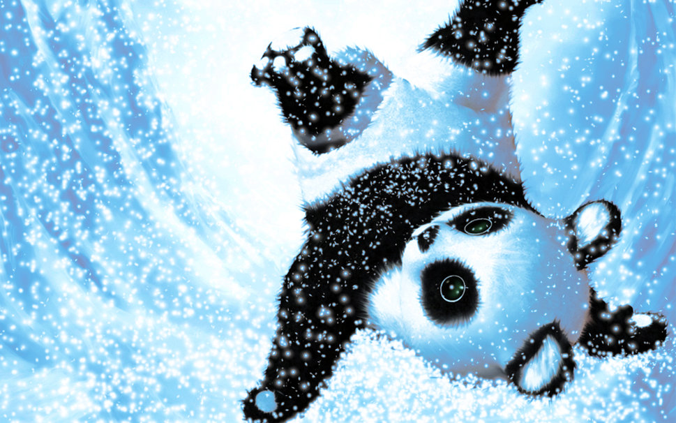 Cute Snow Panda wallpaper   ForWallpapercom 969x606