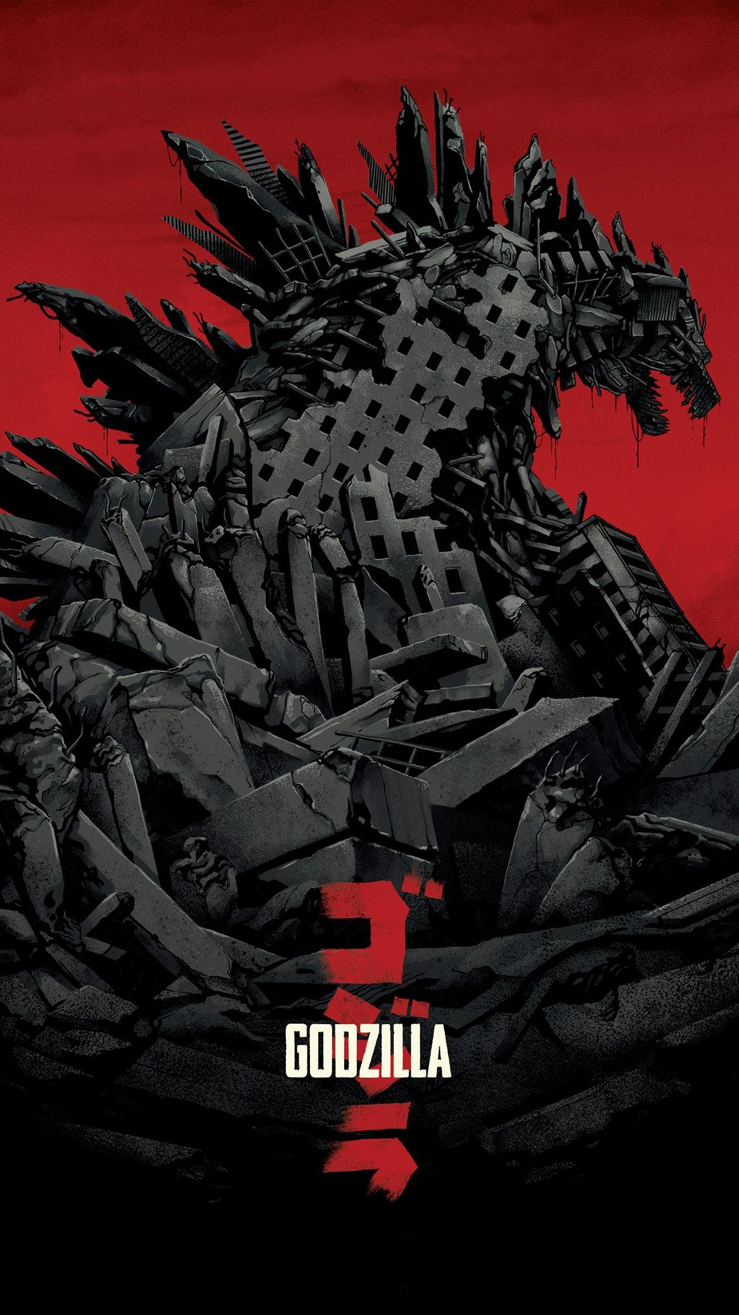 Godzilla 2014 htc one wallpaper   Best htc one wallpapers 1080x1920