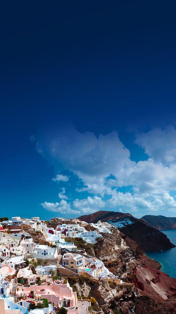 ma62 santorini sunny day greece sea nature in 2019 Background 750x1334