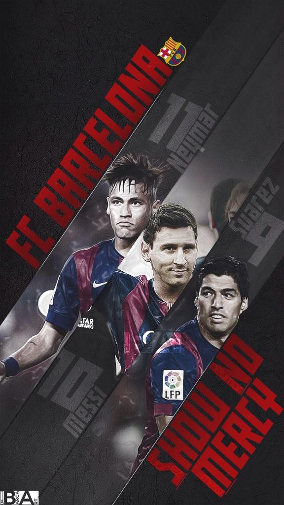 barcastuff on Twitter Wallpaper Neymar Messi Suarez httptco 576x1024