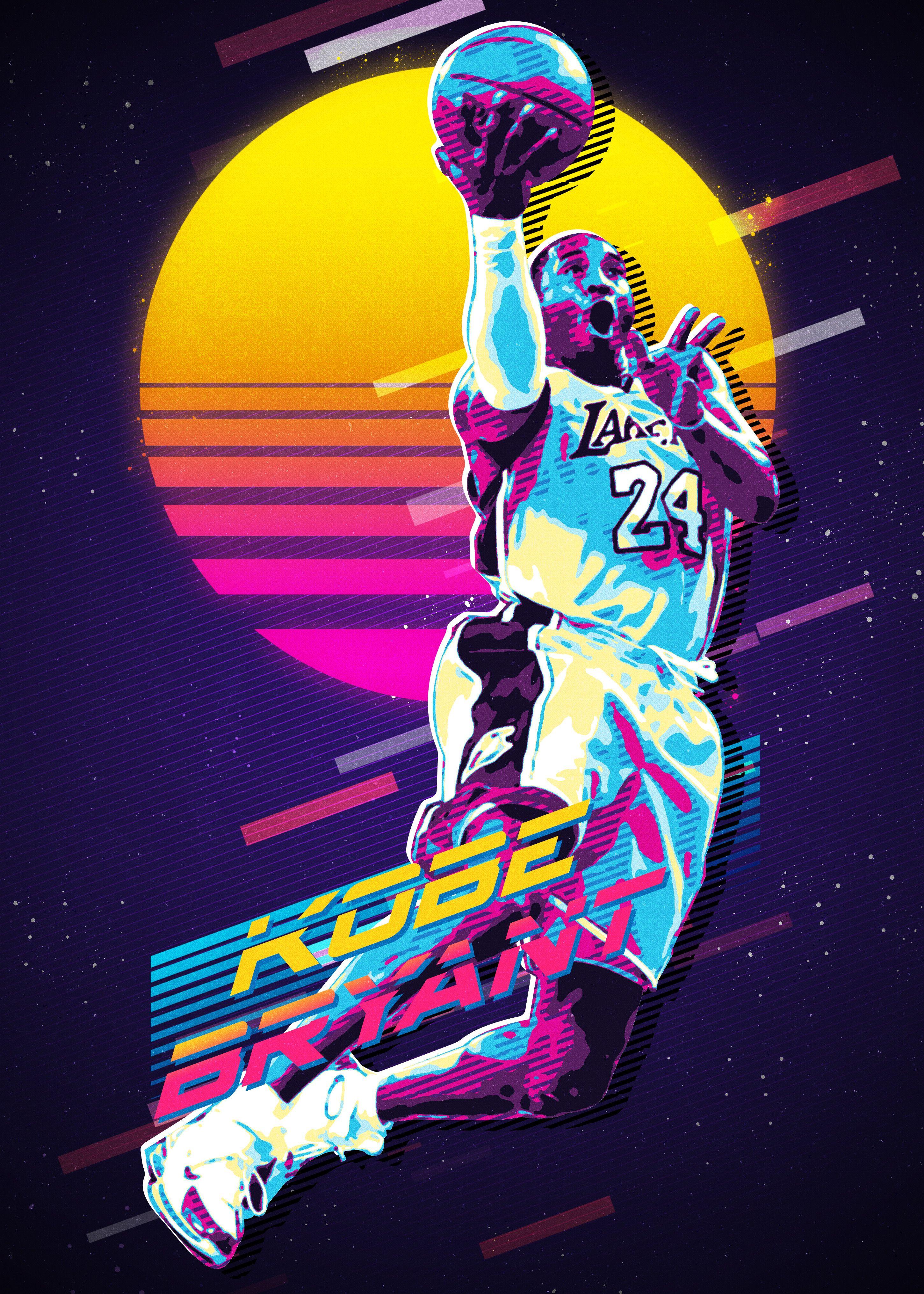 Kobe Retro in 2020 Lakers kobe Kobe bryant poster Kobe bryant 2900x4060