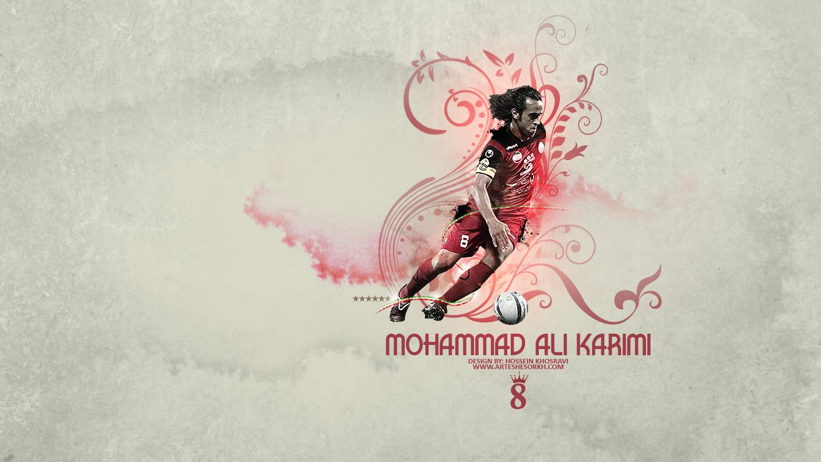 Pin Ali Karimi Right From Iranian National Soccer Team 1600x900