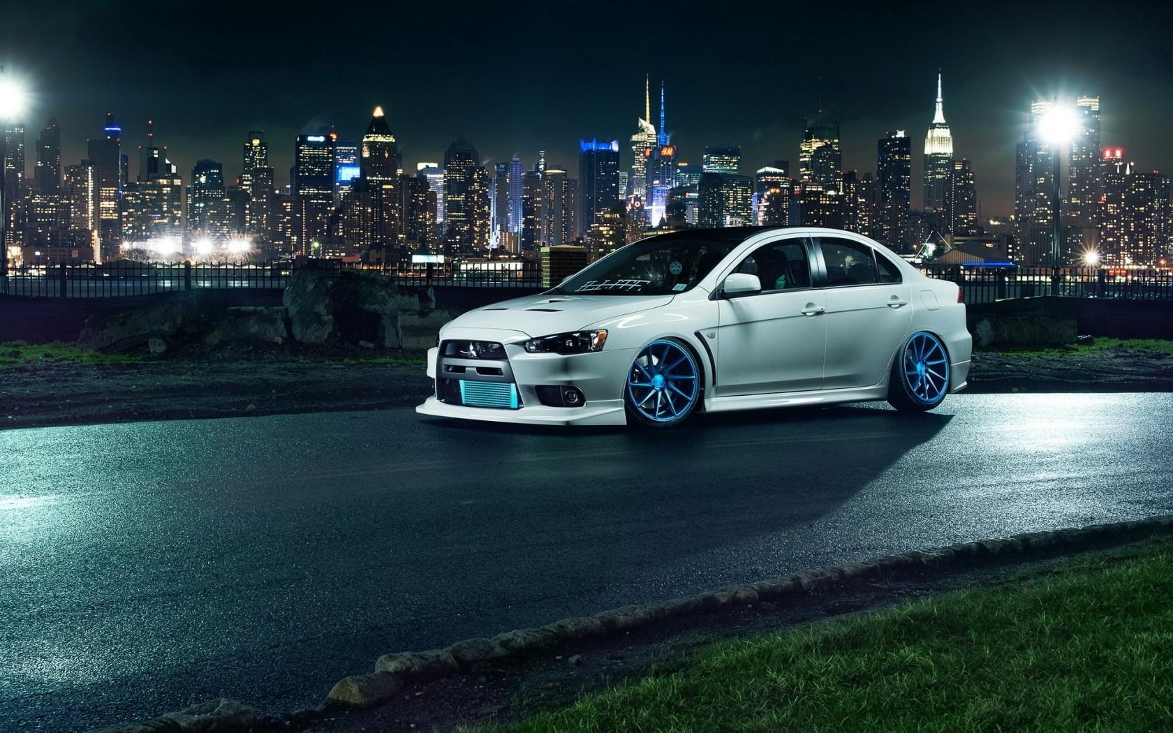 Background Car Hd Wallpapers Cities: Mitsubishi Evo X Wallpaper