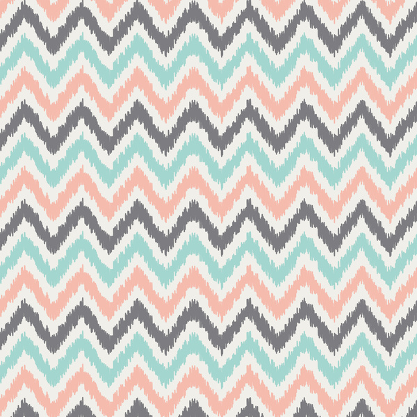 Mint And Coral Color Wallpaper Mint gray coral zigzag pattern