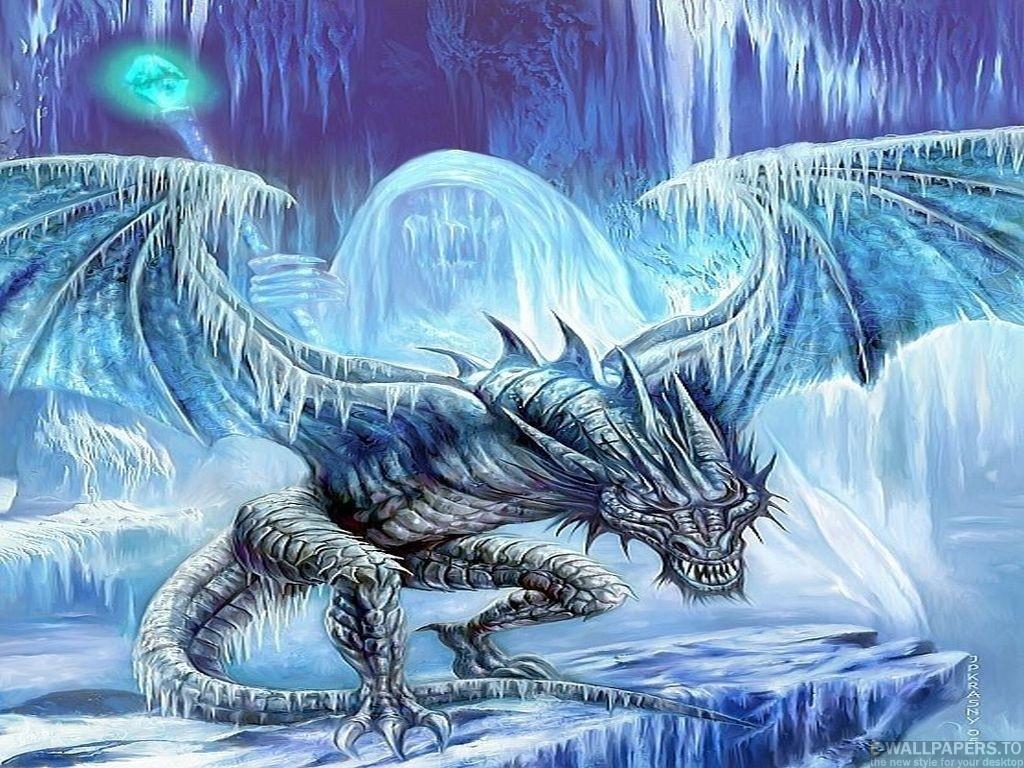74 Ice Dragon Wallpaper On Wallpapersafari