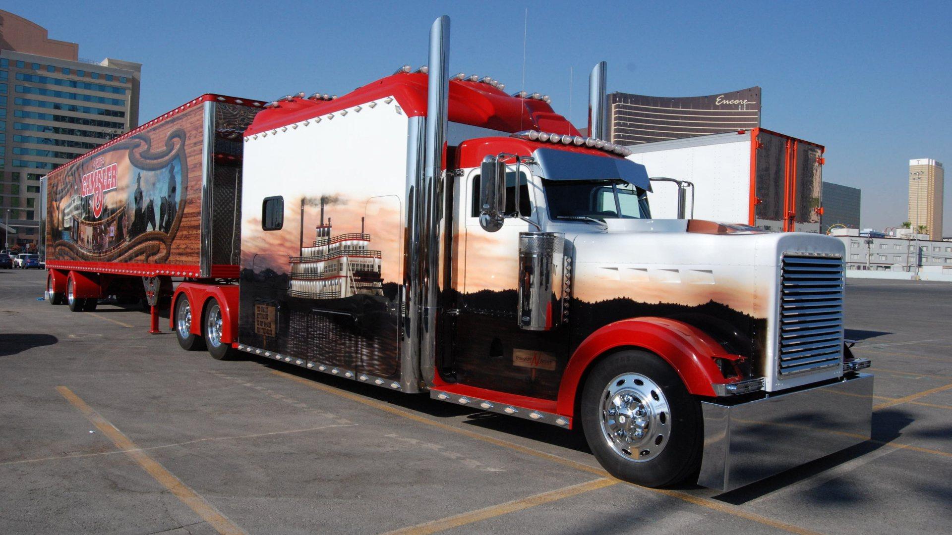 Peterbilt semi trucks tractor rigs wallpaper 1920x1080 53875 1920x1080