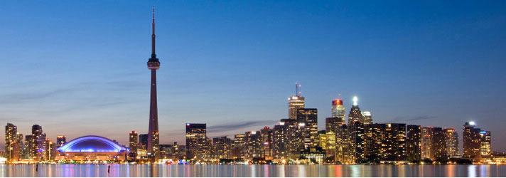 Toronto Images Toronto Skyline skyline toronto at nitejpg 712x250