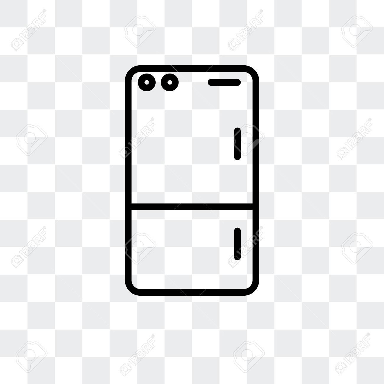 Fridge Vector Icon Isolated On Transparent Background Fridge 1300x1300