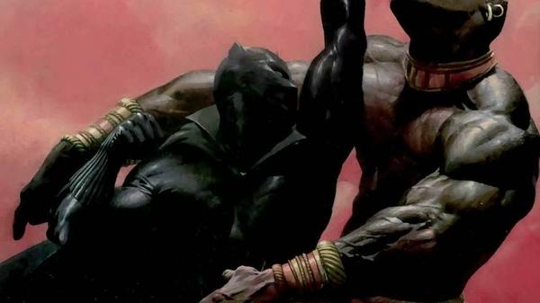 comics marvel comics black panther punch 1920x1080 wallpaper Black 600x337
