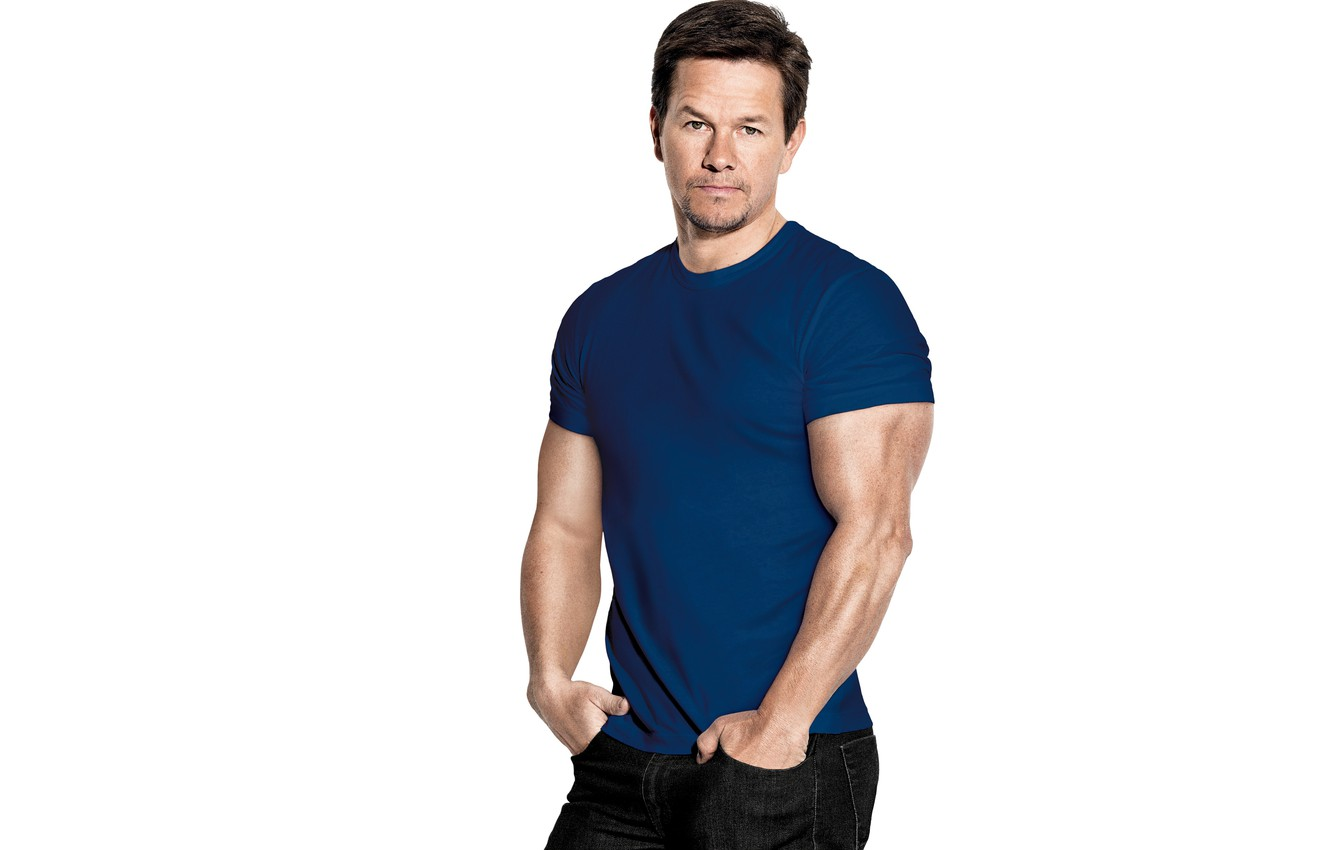Wallpaper pose jeans t shirt actor muscle Mark Wahlberg Mark 1332x850