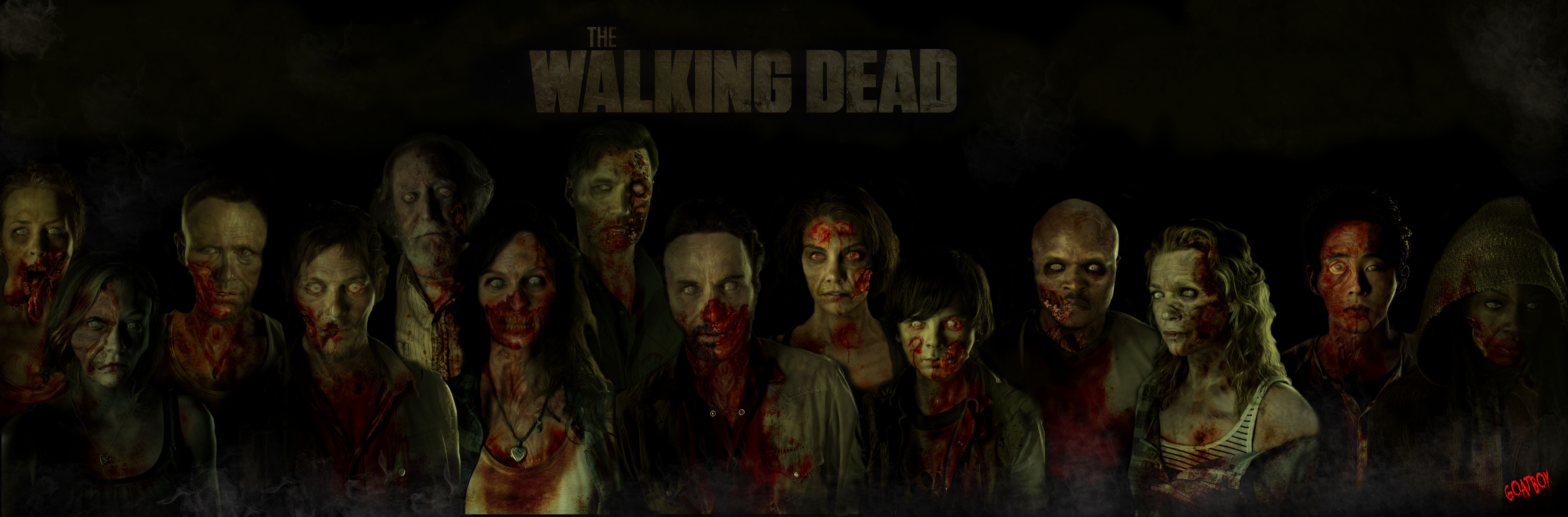 The Walking Dead Zombie Cast Wallpaper Moriarty Of Gore Home 10000x3299