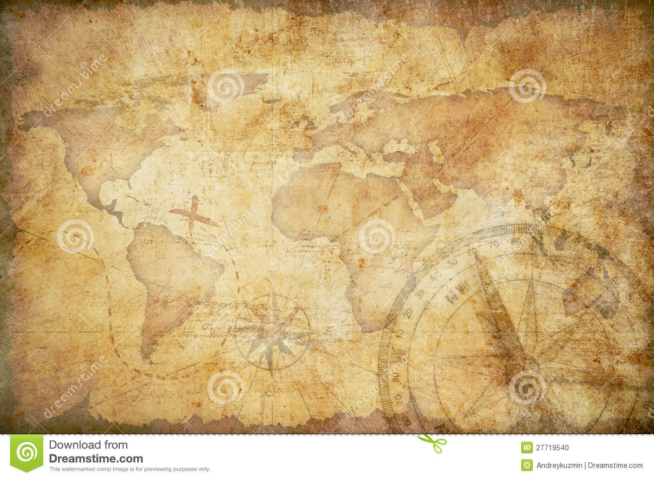 Old Treasure Map Wallpaper Old Map Background - W...
