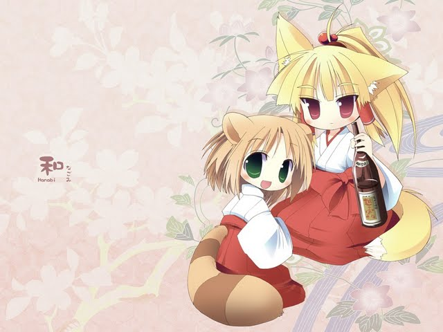 hd anime illustrations charming girls collections cute cat ear anime 640x480