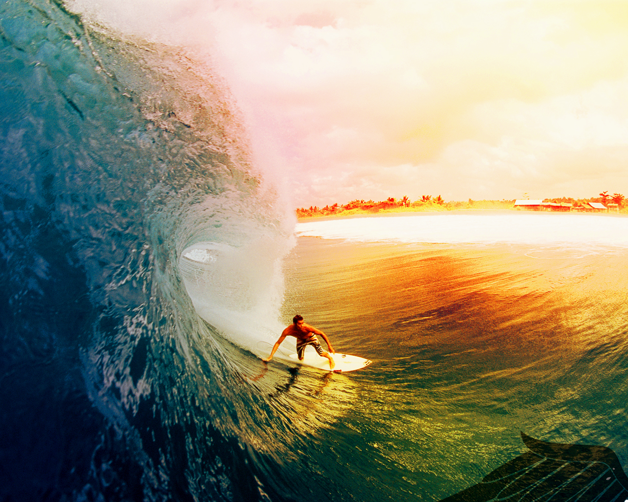 Top Girls Surfing Beautiful Sunset Wallpapers 1280x1024