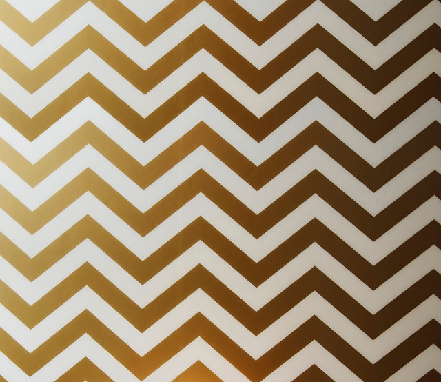 Peel and Stick Chevron Wallpaper Gold   Contemporary   Wallpaper   by 640x554
