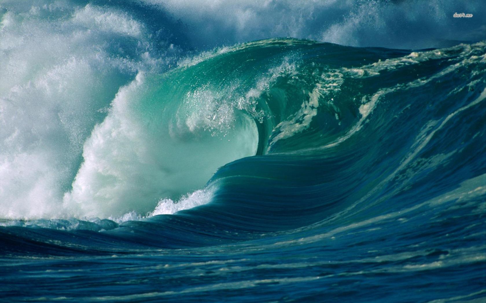 Ocean waves wallpaper   Nature wallpapers   2418 1680x1050